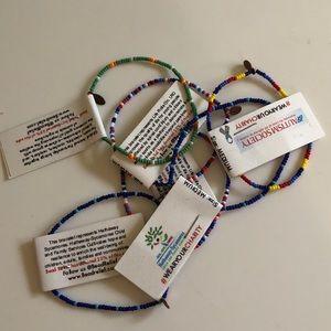 SET OF 6 Rainbow Mini Bead Bracelets!